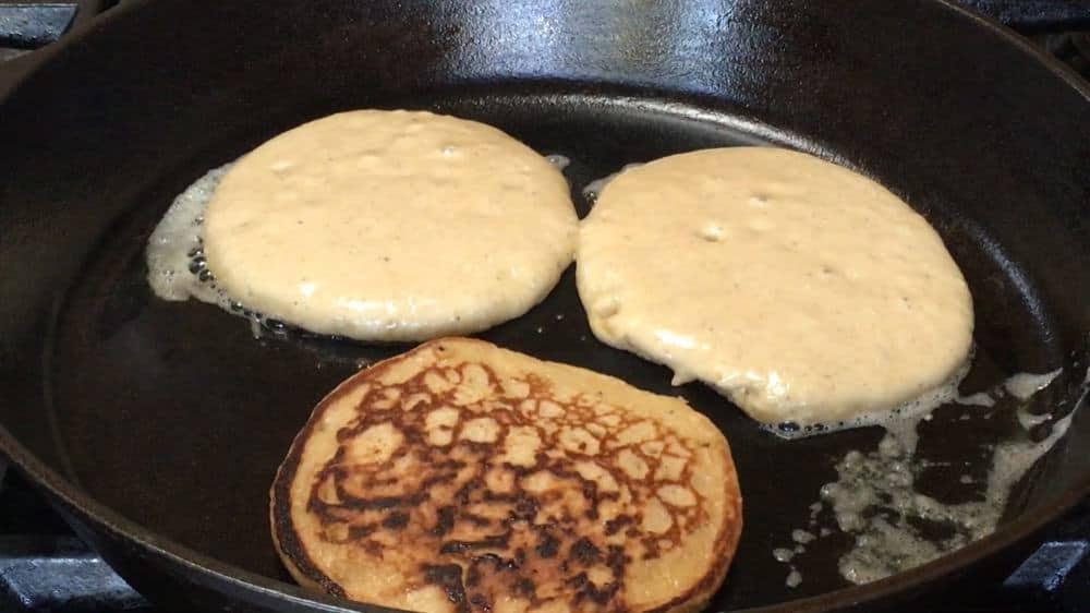 Banana Oatmeal Pancake Flipped