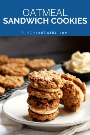 stacked oatmeal sandwich cookies