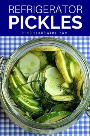 refrigerator pickles in glass jar
