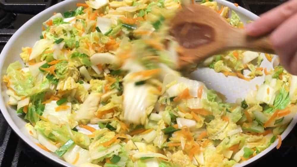 Cooking Cabbage Mixture