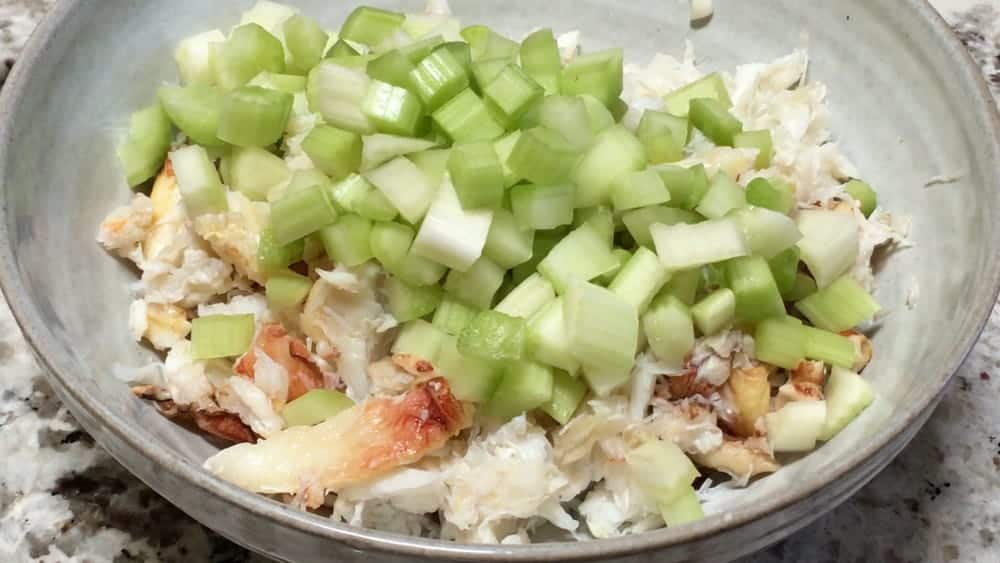 lump crab and diced celery