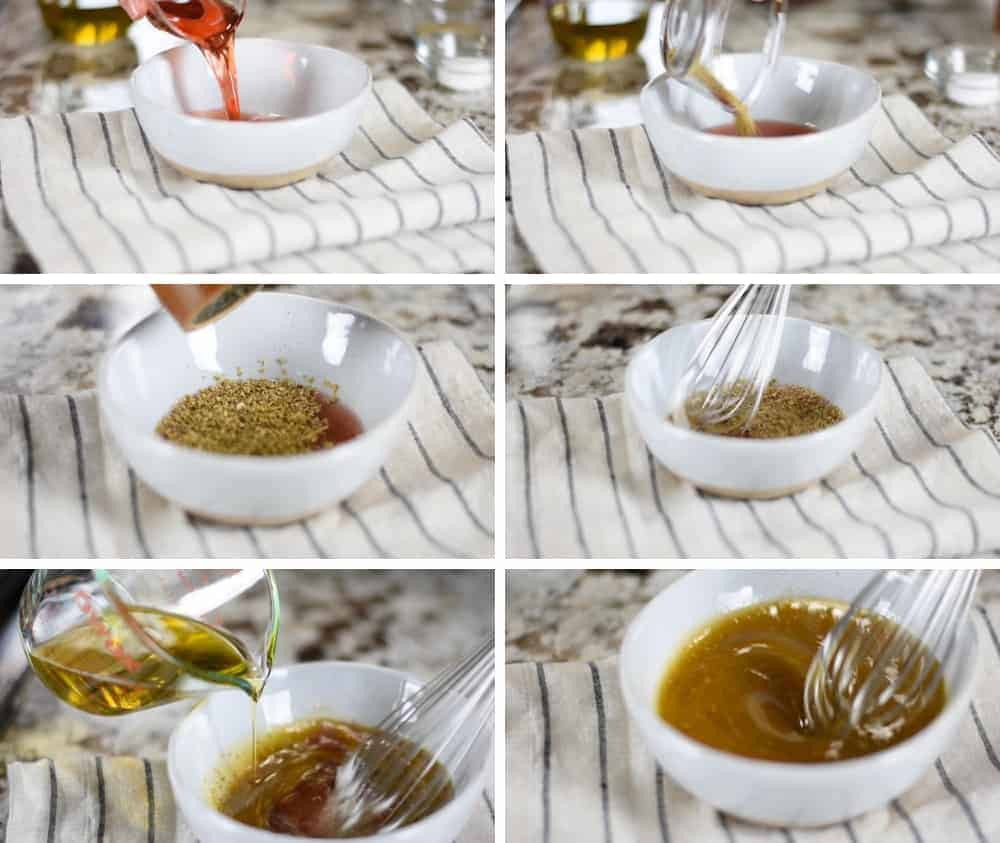 Making Salad Dressing step by step