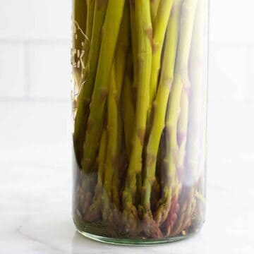 Pickled Asparagus in a glass jar