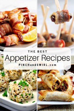 grid of appetizer images