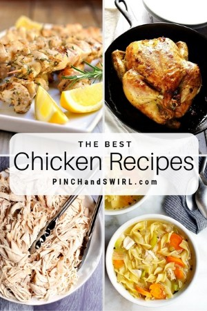 grid of chicken recipe images