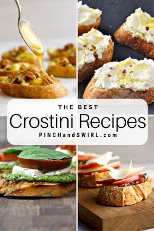 grid of crostini images
