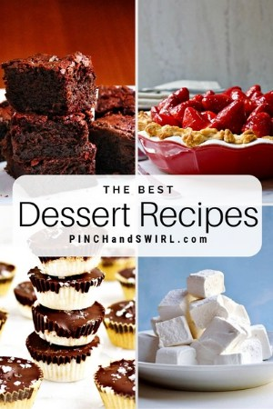grid of dessert images