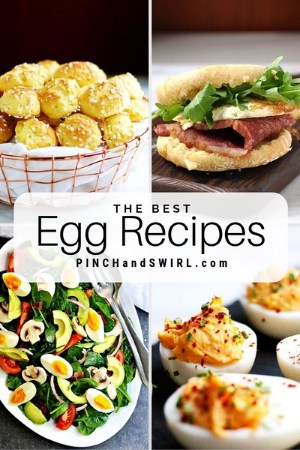 grid of egg recipe images