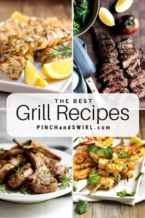 grid of grilled food images