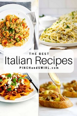 grid of Italian food images