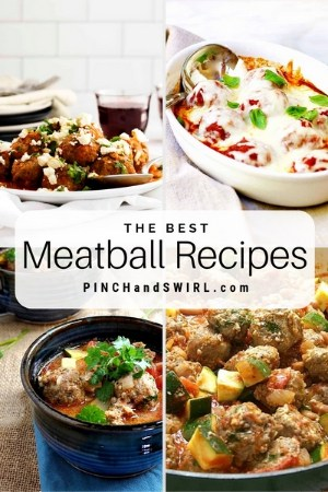 grid of meatball images
