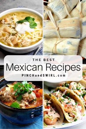 grid of Mexican food images