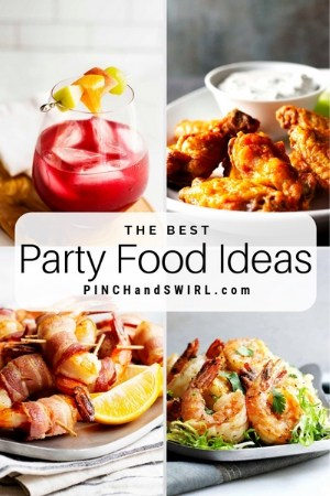 grid of party food images