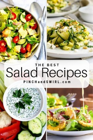 grid of salad images