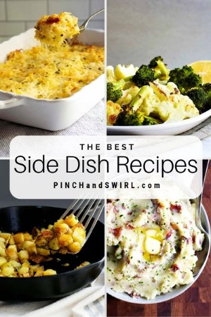grid of side dish images