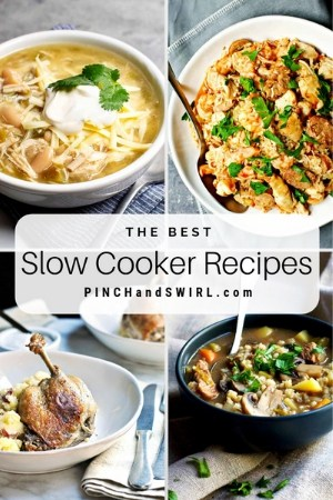 grid of slow cooker meal images