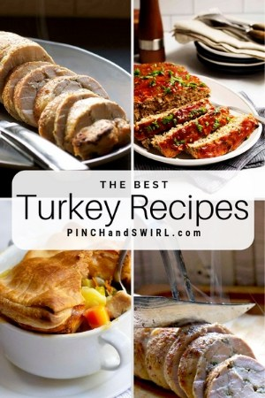 grid of turkey food images
