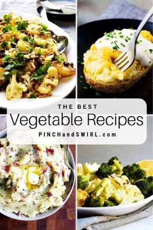 grid of vegetable dish images
