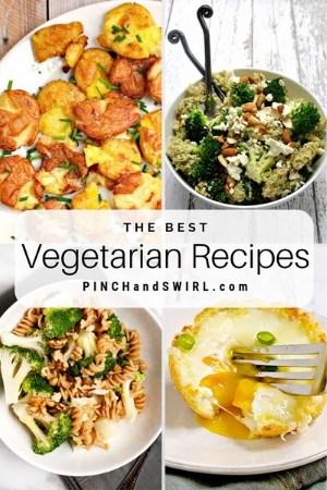 grid of vegetarian food images