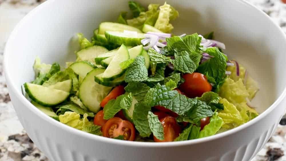 fattoush salad ready to dress