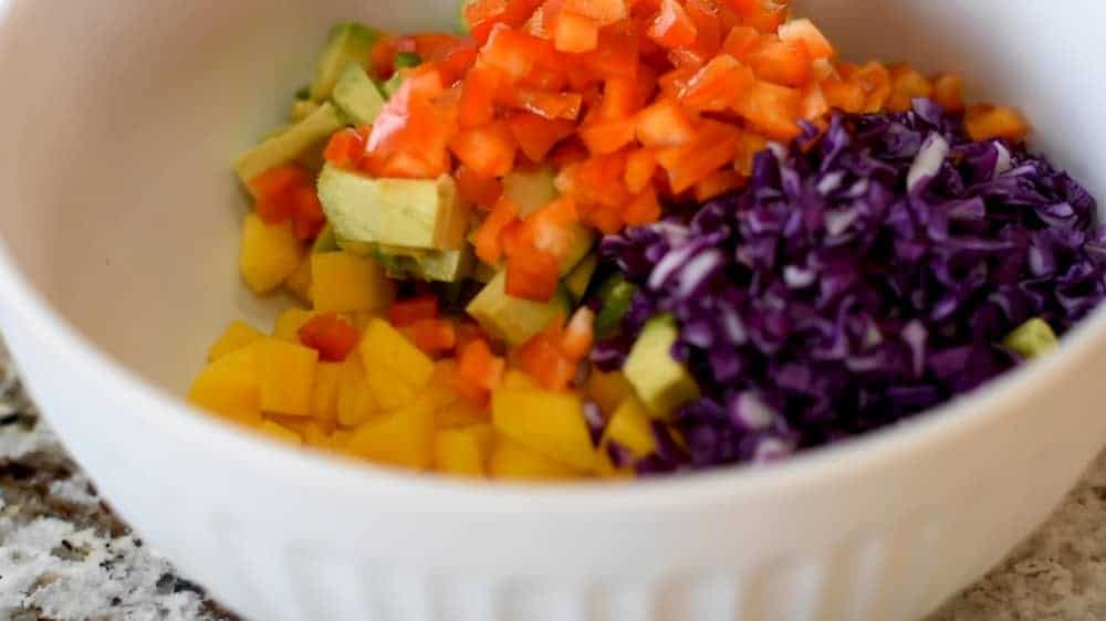 some mango salsa ingredients