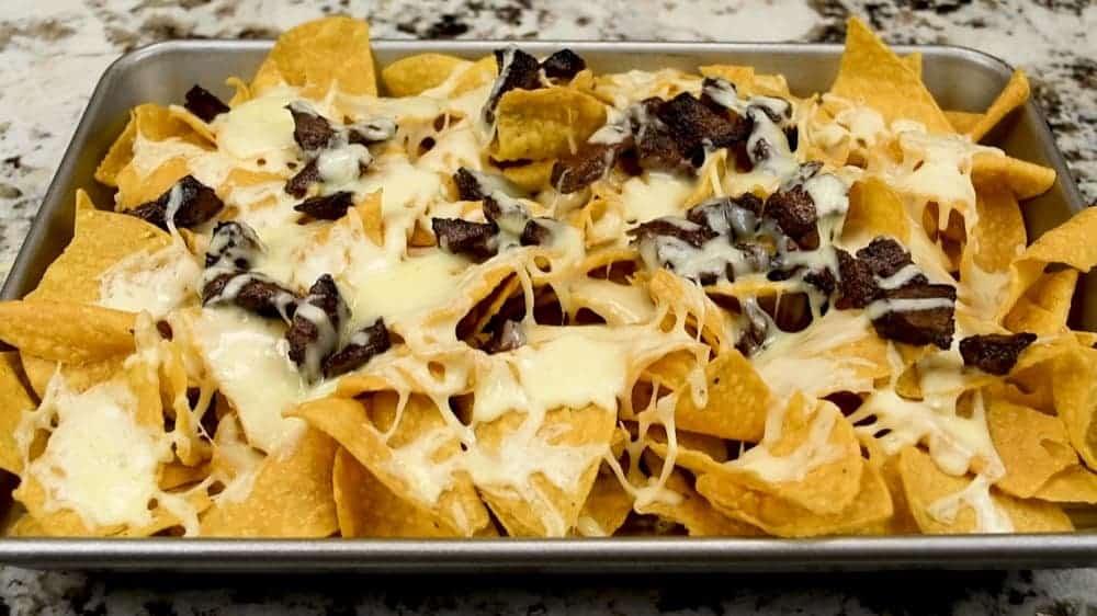 baked carne asada nachos