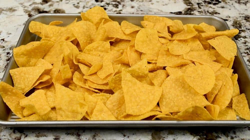 pre-baked tortilla chips