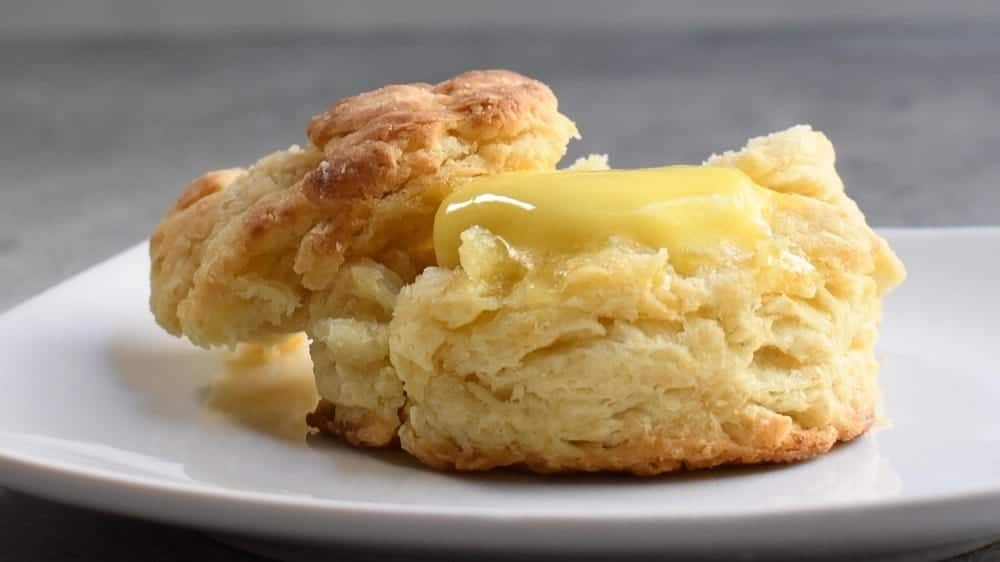homemade biscuit with melting butter