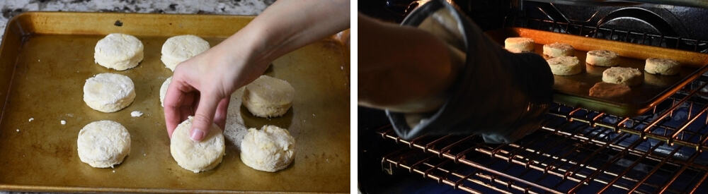 baking homemade biscuits