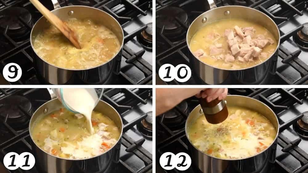 finishing turkey pot pie soup