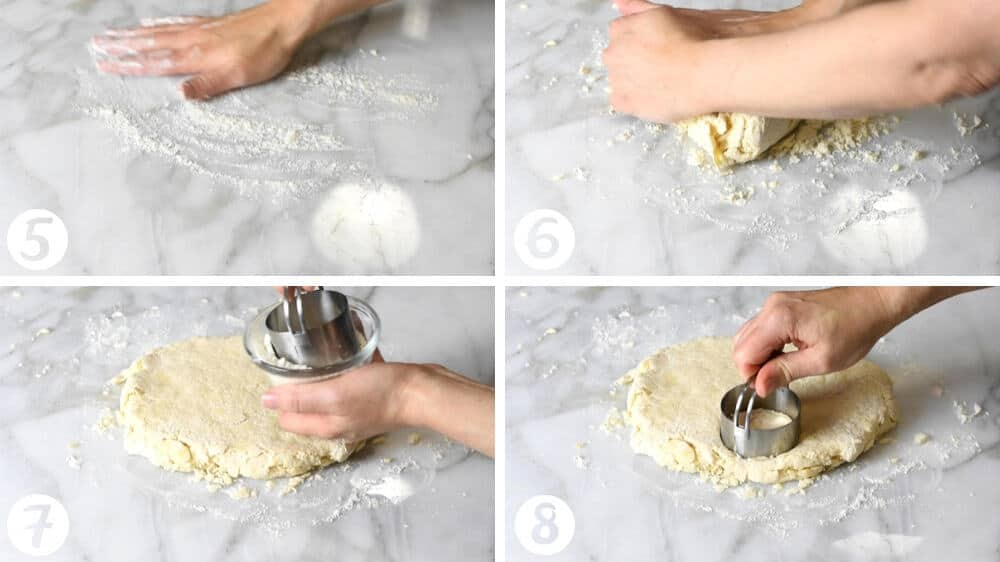 cutting out biscuits step by step