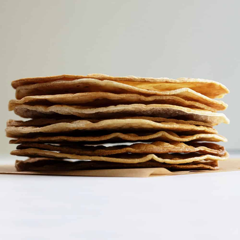 stack of tostada shells