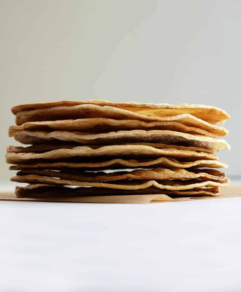 tostada shells stacked