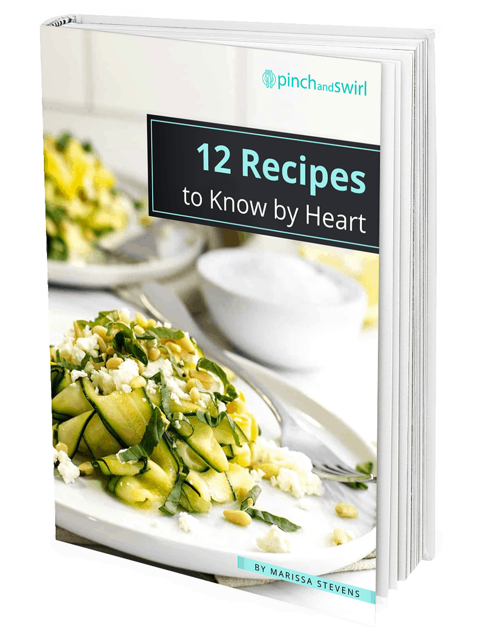 Cover of cookbook 12 Recipes to Know by Heart