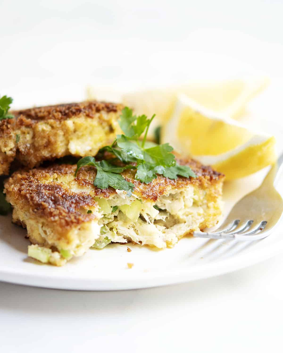 inside of cod fish cakes
