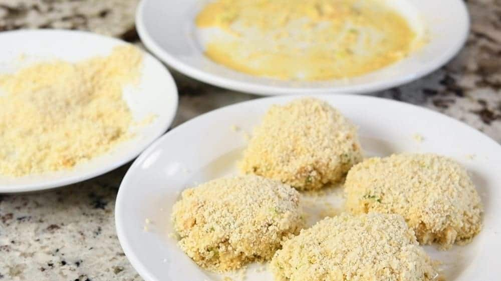cod fish cakes coated in panko breadcrumbs