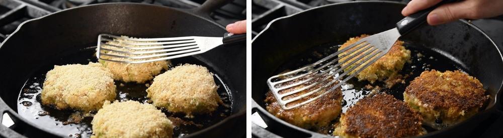 pan frying cod fish cakes