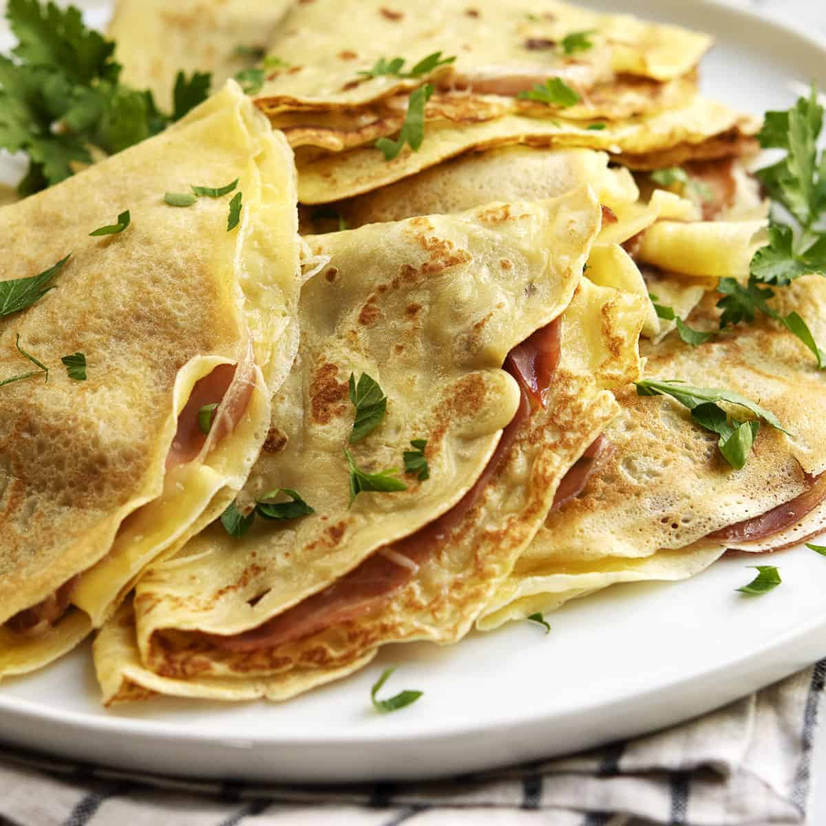 Easy Savory Crepes Make Ahead Option Pinch And Swirl