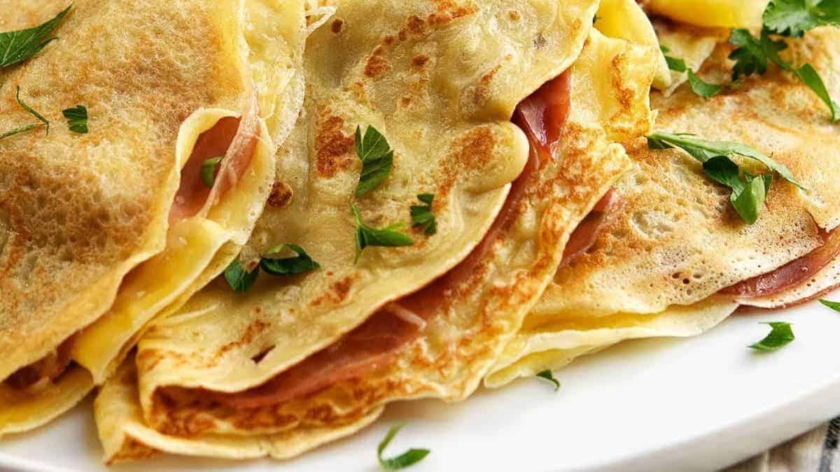 savory crepes served