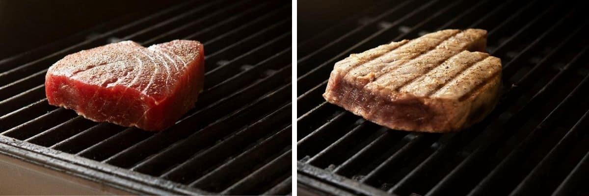 grilling tuna steak