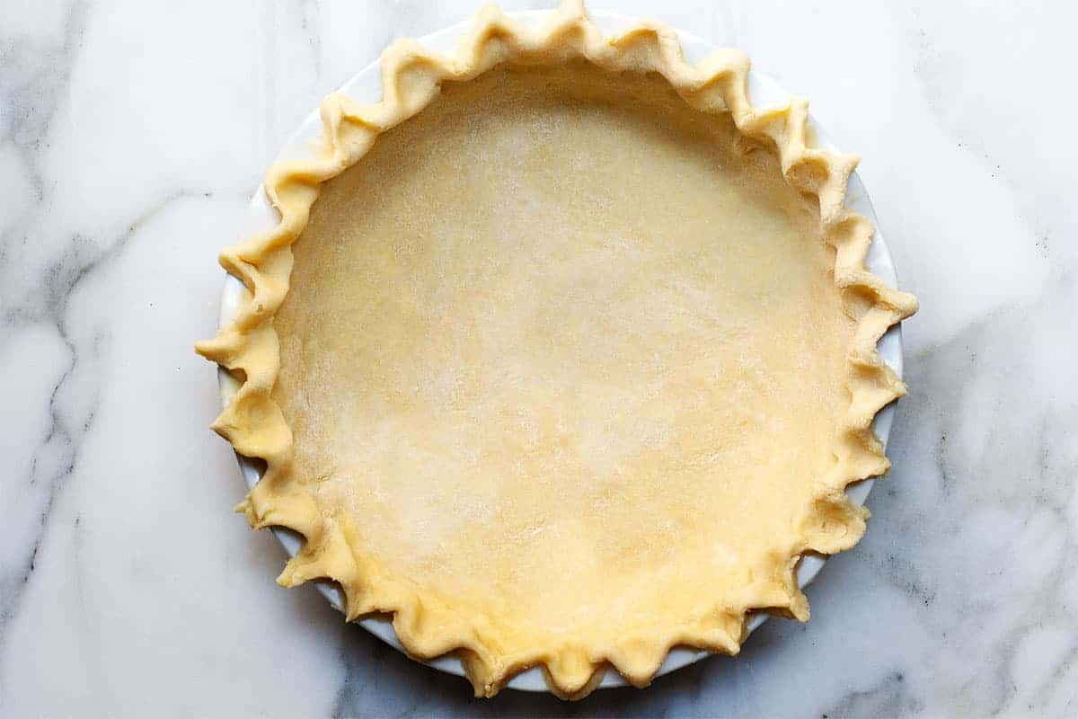 Lard Pie Crust in pie plate