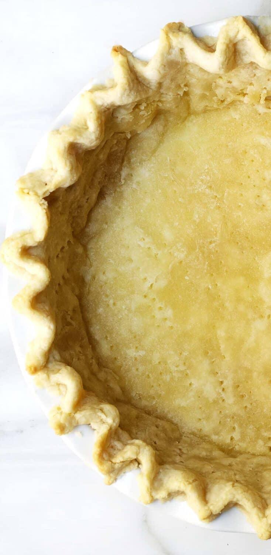 Partially Baked Lard Pie Crust