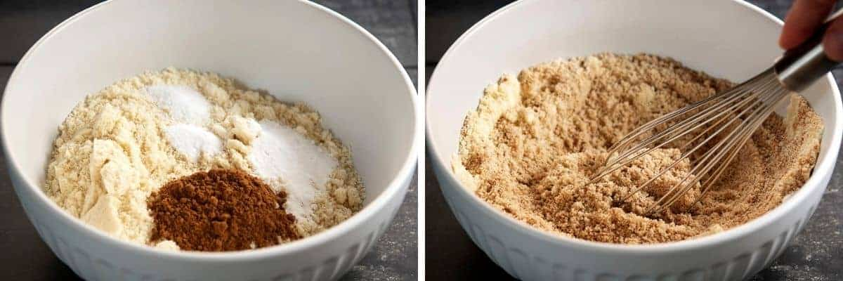 whisking dry ingredients together for almond flour pumpkin bread