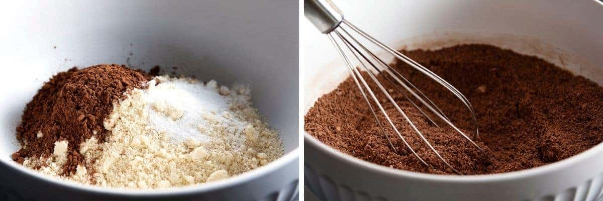 whisking dry ingredients together