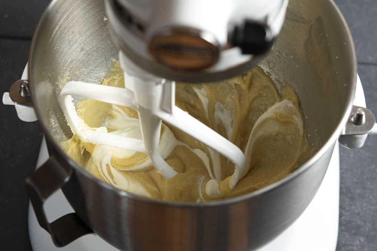 adding sour cream to cookie dough