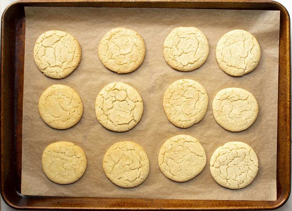 cut out almond flour sugar cookies baked