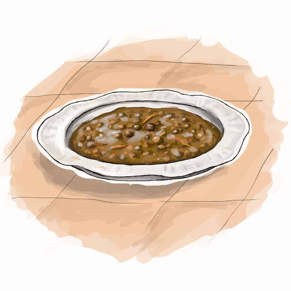 illustration of Tuscan Farro Soup
