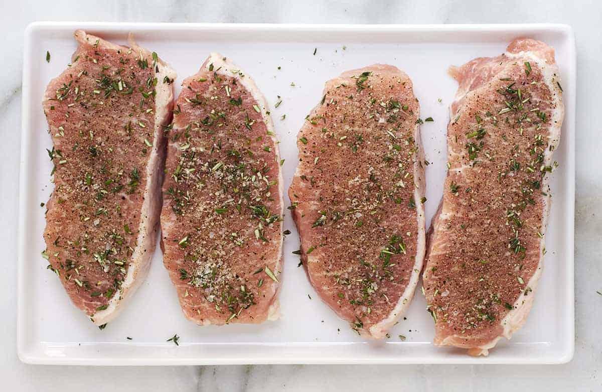 seasoned boneless pork chops