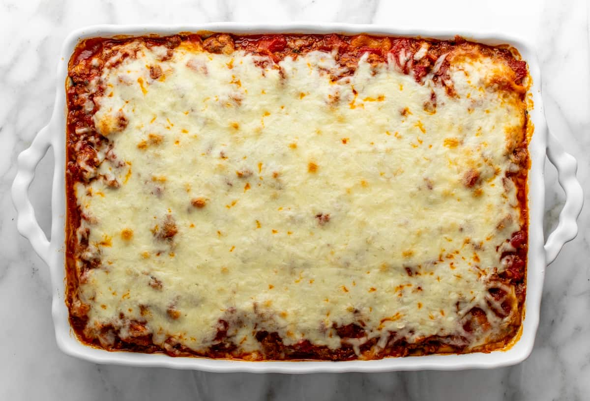 baked lasagna with cottage cheese