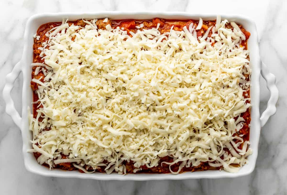 final mozzarella cheese layer